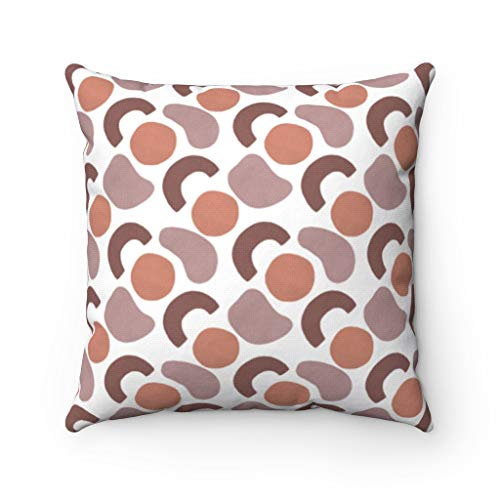Lplpol Canvas Throw Pillow Cover Abstract Pillow Cover Rust Brown Lavender Burnt Orange Lilac Decorative Pillowcase 26 Inch Christmas Festival Decorations