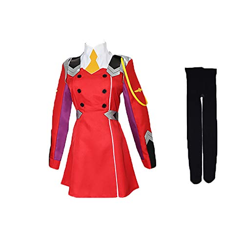 Darling in The FRANXX Zero Two Anime Cosplay Disfraz de Halloween Juego Fiesta Disfraz Conjunto Rosa Peluca Larga de Cosplay