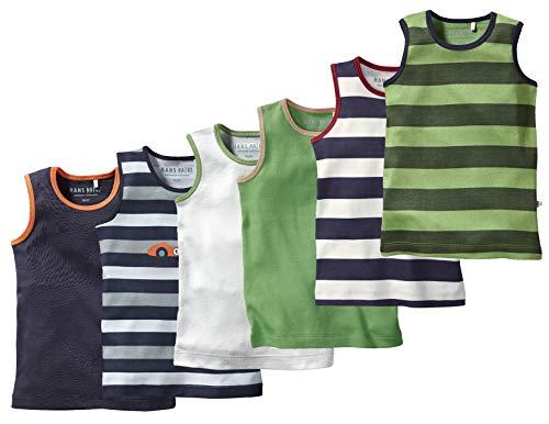 Bio Kinder Unterhemd 100% Bio-Baumwolle (kbA) GOTS zertifiziert, Jungen 6er-Set, 110/116