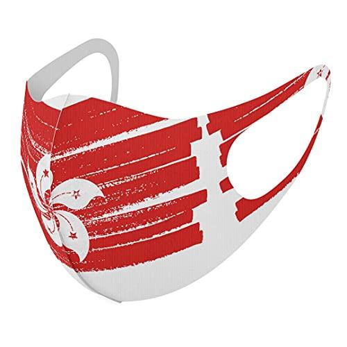 デザイン マスク 2枚セット ポリエステル 洗える 布マスク 男女兼用 018467 国旗 hong-kong 香港