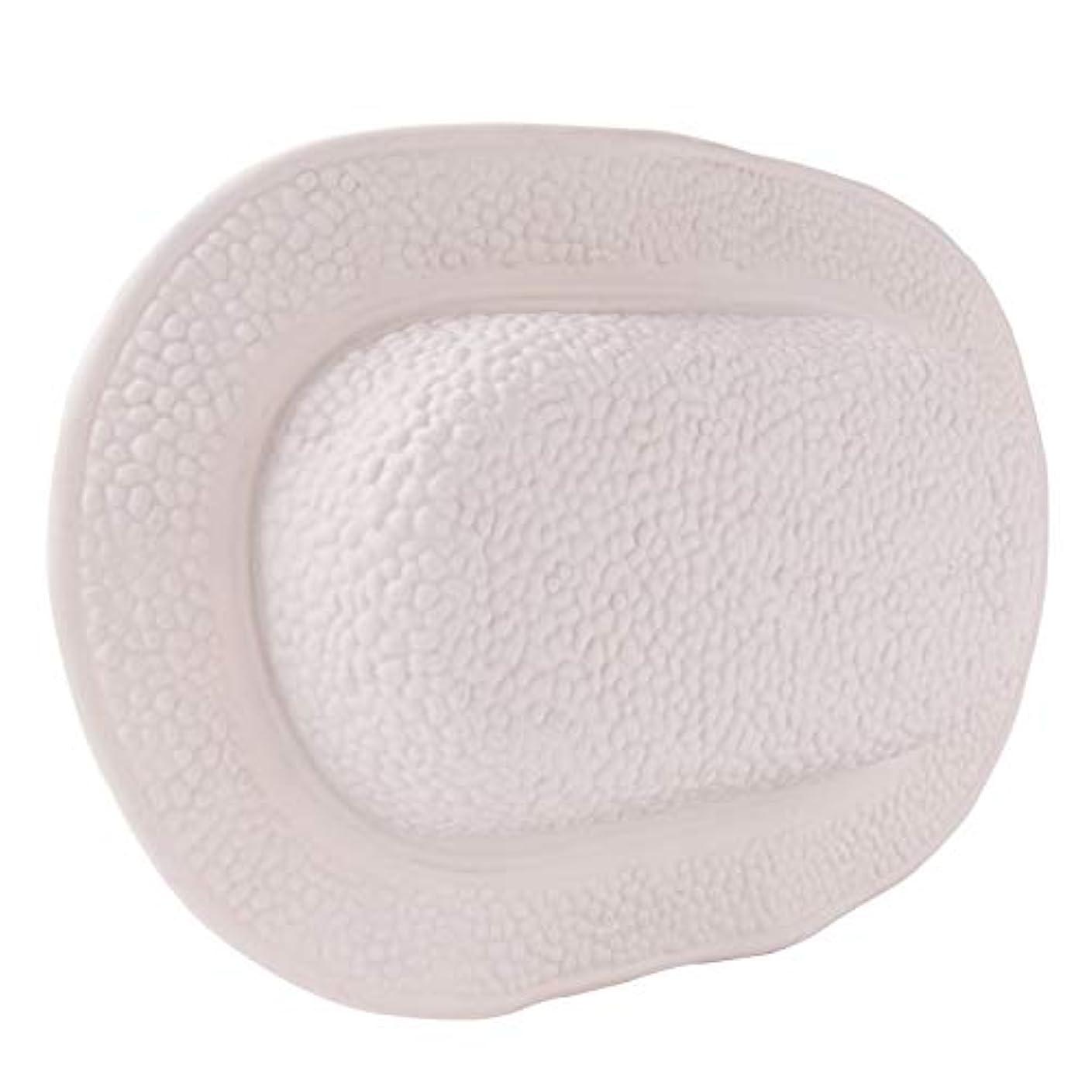 地下水っぽい在庫TPE風呂枕サクションカップ防水ヘッドレスト人間工学に基づいたホームスパネックバックサポート浴室アクセサリー,White