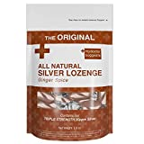 All Natural Silver Lozenges - Ginger Spice The Perfect Lozenge for Oral Health, Daily Supplementation, Contains 30ppm Silver
