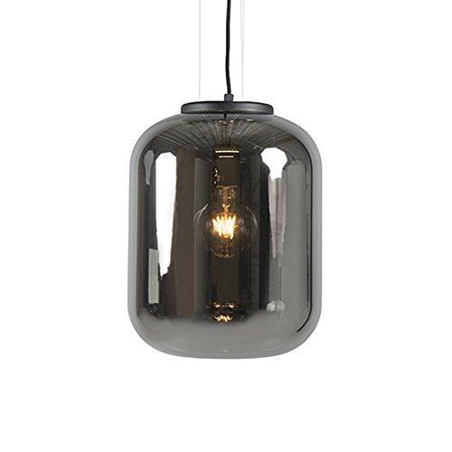 QAZQA Lampada a sospensione bliss - Retrò - Vetro,Metallo - Nero - Tondo Max. 1 x 60