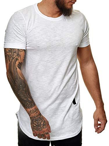 Herren T Shirt Poloshirt Polo Longsleeve Kurzarm Shirt Modell 3659 Weiss L