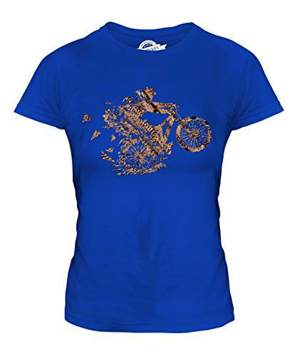Candymix - Mountain Biker Triangular Splatter - Camiseta ajustada para mujer, azul real, 36-38