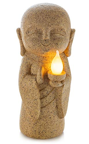 VP Home Baby Buddha Guiding Light Solar Powered LED Outdoor Decor Garden Statue