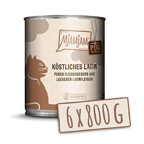MjAMjAM - Pienso acuoso para Gatos - Delicioso Cordero Puro - Sin Cereales - 6 x 800 g
