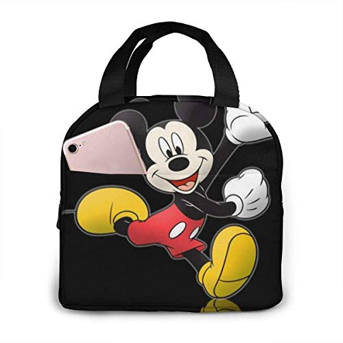 keben Mickey Minnie Portable Insulated Refrigeration Lunch Bag for Women and Men Reusable Tote Beach Bag
