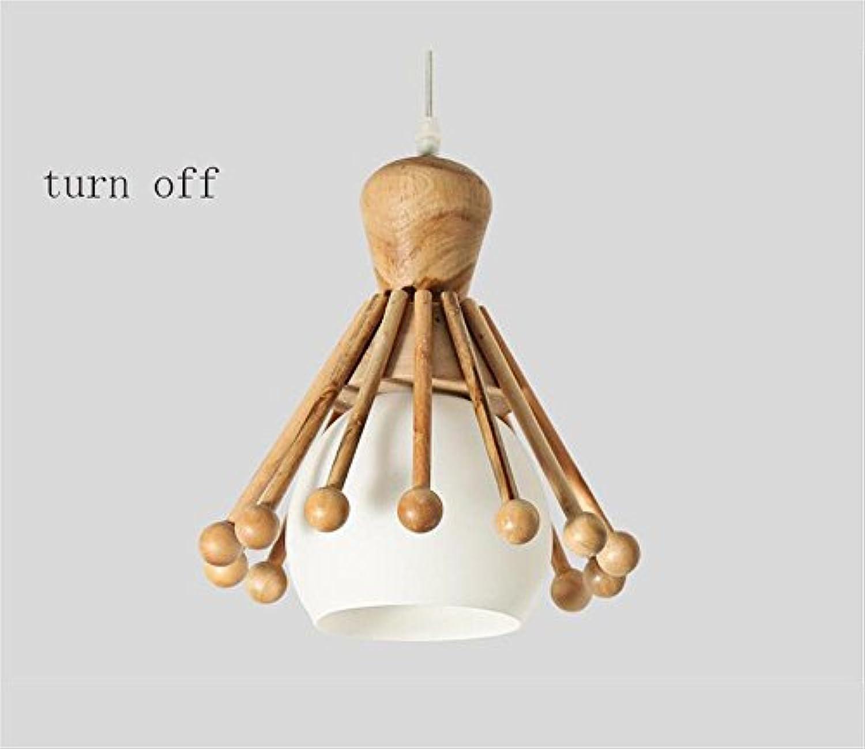 GBT CreativeChandelier Holz Protokolle Wohnzimmer Restaurant Schlafzimmer DREI Hlzerne Lampe im japanischen Stil LED Kronleuchter,1
