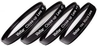 4 piece Close Up filter set +1, 2, 4 & +10 For Nikon Coolpix P510 & P520 & P530 Digital Camera
