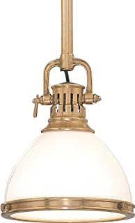 Hudson Valley 2622-AGB, Randolph Cone Pendant, 1 Light, 60 Total Watts, Brass