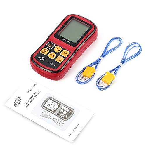 BENETECH GM1312 Termocoppia digitale a doppio canale Termometro -50~300 ℃ Misuratore di temperatura portatile 2pcs Termocoppia tipo K JBP-X