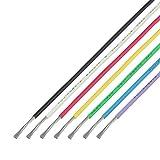 協和ハーモネット UL難燃架橋ポリエチレン絶縁電線 黒白赤黄緑青紫 各2m UL3265 AWG20 2m <7>