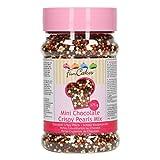 FunCakes Chocolate Crispy Pearls: Sprinkles para Tartas, Gran Sabor, Perfecto para Decorar Tartas, Sprinkles de Chocolate. 225g