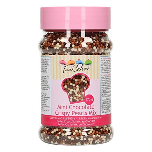 FunCakes Mini Schokoladen Knusperperlen Mix, 175 g G42082