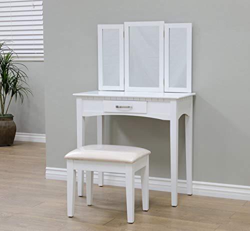 Frenchi Home Furnishing Vanity , white - RVMH206WH (Renewed)