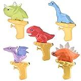 5pcs Pistola de Agua Pequeña para Niños, Queta Pistola de Agua Plástico Juguete Verano para Playa Piscina, Dinosaurio