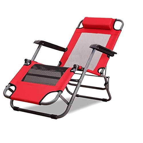 Axdwfd Ligstoel Recliner Folding Lunchpauze Siesta stoel kantoor bank zwangerschapsstoel balkon vrije tijd senioren schommelstoel multifunctionele klapstoel kan bed maken 3 kleuren optioneel 80 cm
