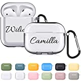Custom Name AirPods Case for Apple AirPod 2&1 or AirPods Pro Cover ,Personalized Gift 12 Colors Optional 2 Packs