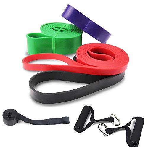 4 unids Tire de la banda de resistencia a la aptitud de la aptitud de la banda de la banda de la bucle de la banda de ejercicio de la banda del estiramiento del ejercicio con el ancla de la puerta + a
