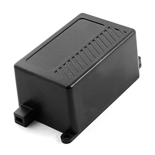 70mm x 46mm x Negro Funda impermeable de plástico de 36 mm de caja de conexiones