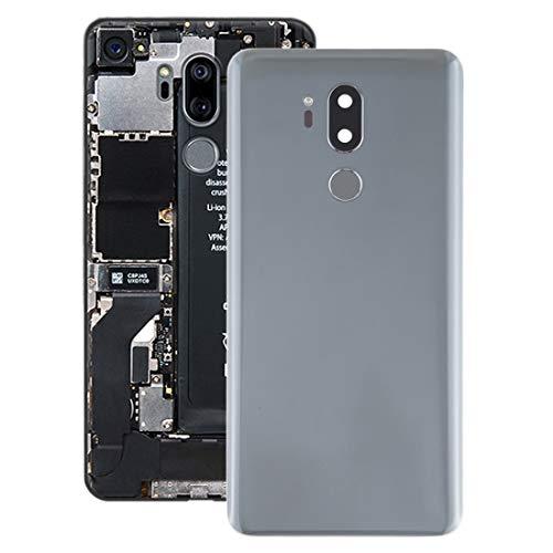 Mobiele telefoon onderdeel werkt zeer goed batterij-achterdeksel met camera en vingerafdruk voor LG G7 THINQ lens, zilver.