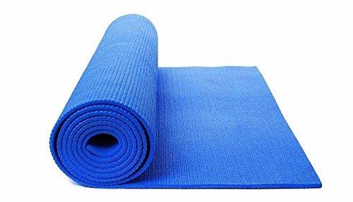 Vet italy Tappetino Yoga Tappeto Palestra Fitness Aerobica Pilates Ginnastica materassino Colore Blu