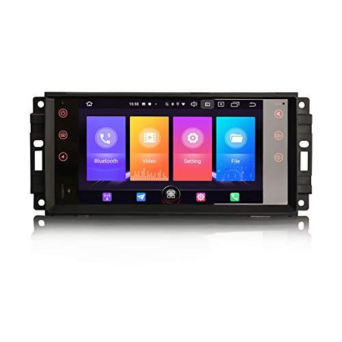 "Erisin Android 10.0 7\"" Autoradio für Jeep Compass Commande Patriot Chrysler 300C Dodge Challenger Unterstützt DAB+ Navi Carplay Android WiFi A2DP DVB-T2"