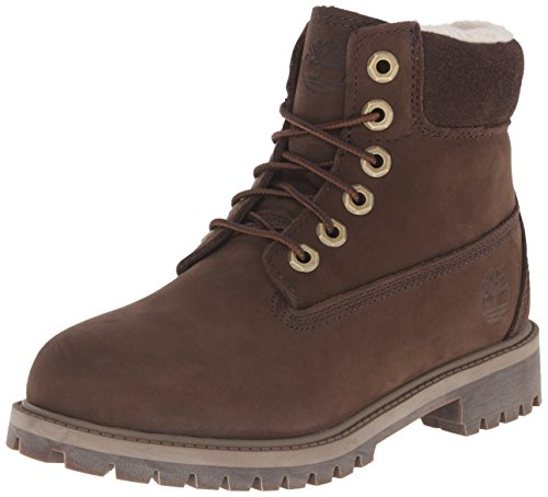 Timberland 6 Inch Premium with Faux Shearling Boot Closure (Toddler/Little Kid/Big Kid), Brown, 13 M US Little Kid