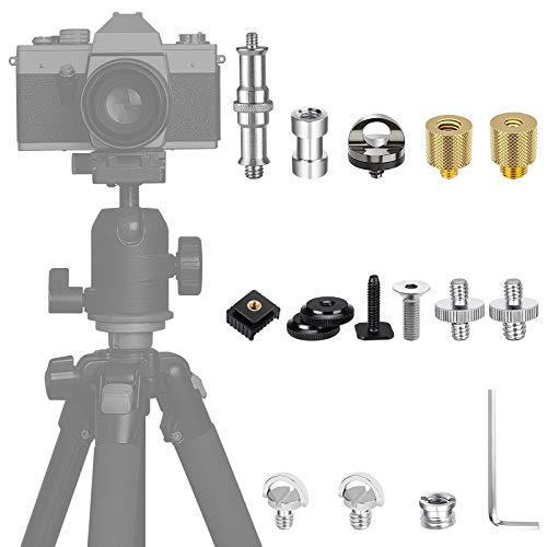38 Stück Kamera Schraube, 1/4 auf 3/8 Zoll Schrauben Konverter Adapter für Kamera, Gewindeschraube für Stativ, Monopad, Einbeinstativ, Kugelkopf, Schnellwechselplatte