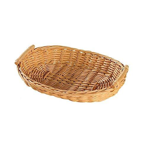 ZHENAO Natural Kitchen Restaurant Bread Basket Rattan Storage Basket Child Gift Basket Shelf Basket Outdoor Picnic Basket You Can Put Bread Snacks Handmade Storage Bag/S
