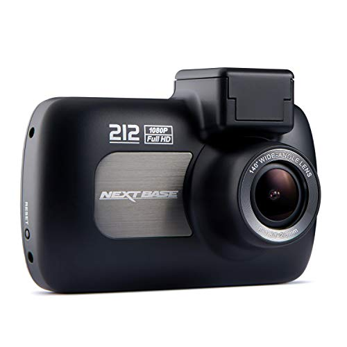 Nextbase 212 Lite 1080p Full HD DVR Dashboard Digital Driving Video Recorder in Car Dash Camera (37mm inc Lens) - Black