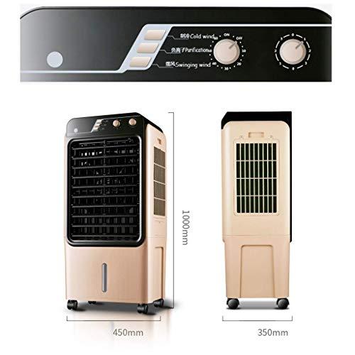 MU Home Wohnzimmer Schlafzimmer Fan-Fan Golden Mobile Kühlung, Single Cold Mechanische Industrieklimaanlage 150W