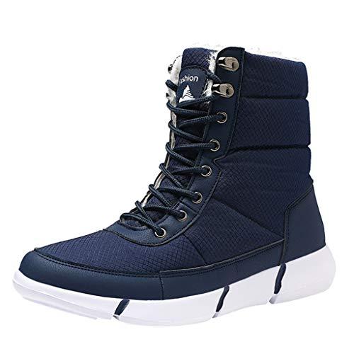 Zapatos de hombre JiaMeng-ZI Botas Hombre Botines Zapatos Invierno Botas de Nieve Cálido Fur Forro Aire Libre Boots Urbano Senderismo Esquiar Caminando Mantener Caliente Zapatos Deportivos 39-48