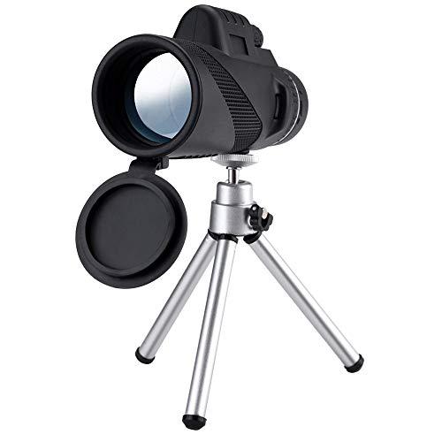 Faplu望遠鏡、40X60ズーム光学HDレンズ単眼望遠鏡+三脚+スポーツイベント用ユニバーサル電話用クリップ