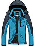 GEMYSE Women's Mountain Waterproof Ski Snow Jacket Winter Windproof Rain Jacket (Acid Blue,X-Large)