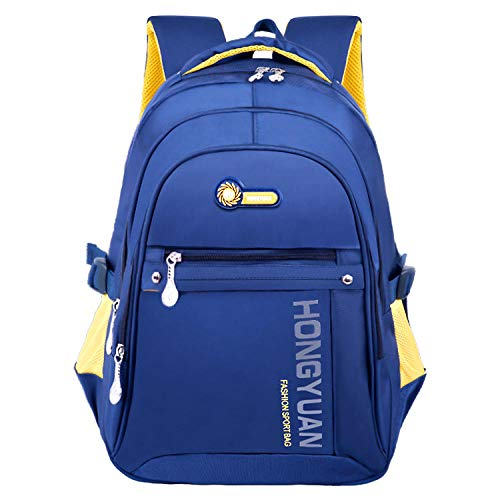 KCJMM-BAG Mochila Unisex de Estudiante, Mochila Escolar del Ordenador Portátil, Mochila de Estudiante Mochila de Cresta de Descarga Mochila de Negocios Informal @ Azul Marino