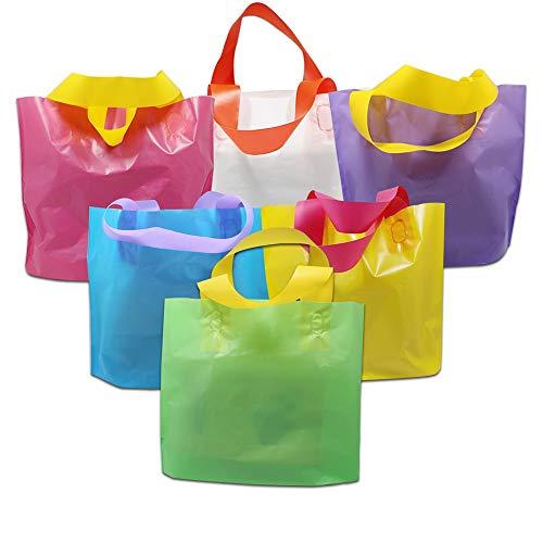 Gartenwerkzeuge- 500 Stück / Los 4 Größen Einkauf Paket-Beutel mit Griffen for Kleidung Schmuck Boutiquen Verpackung aus Kunststoff Portable Shop Geschenk-Taschen ( Color : Yellow , Size : 40x30cm )