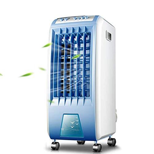 Ventilador de aire acondicionado portátil, ventilador eléctrico silencioso refrigerado por aire humidificador refrigerado por agua con aire acondicionado pequeño acondicionador de aire para el hogar u