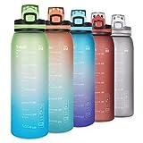 Opard Trinkflasche Sport 900ml -Wasserflasche aus Tritan BPA-Frei, Auslaufsicher Sportflasche für...