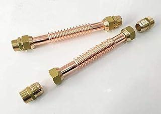 Aexit 1 4BSP Brass Acondicionado Tuercas de Aire Acondicionado Partes Accesorios 5pcs para model: U7435IIIVII-5419VZ 6mm Dia Pipe