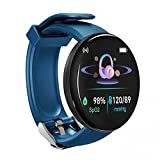 Smart Watch Fitness Watch for Men Woman Activity Tracker with Heart Rate Blood Pressure Monitor IP65 Waterproof Bluetooth Android Smartwatch Touch Screen Sports Watch for Android iOS Phones(Blue)