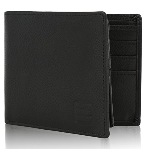 SUVELLÉ Suvelle Bifold Mens Genuine Leather RFID Blocking Slimfold Travel Wallet WR98 …