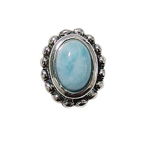 ラリマーピアス(3) シルバー925製 銀 ラリマー天然石パワーストーンメンズ レディース アクセサリー