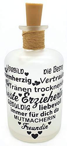 Botella de luz LED para botella de luz con texto en alemán 'Daymama Daymutti Kiga'