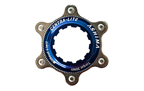 Ashima Centra Lite Disc Adaptor - Adapter für Shimano Centerlock auf is 6 Loch Bremsscheibenaufnahme Blau