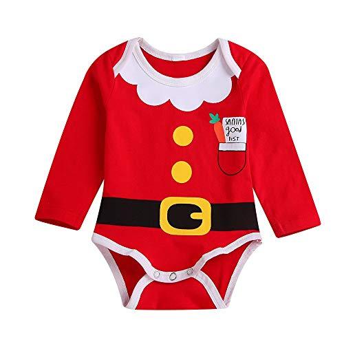 Cuteelf Kinder Langarm Weihnachten Karotten Print Roben Strampler Overall Junge Weihnachten Brief drucken Overall Overall Kleidung Weihnachten Komfort Weihnachten Strampler