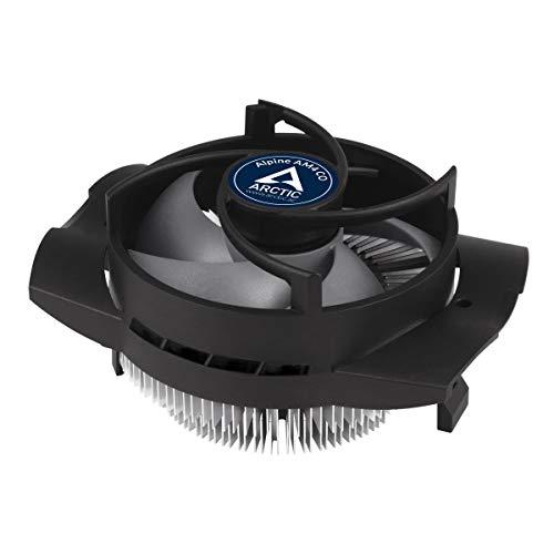 ARCTIC Alpine AM4 CO - Kompakter AMD CPU Kühler für Dauerbetrieb für AM4, Voraufgetragene MX-2 Wärmeleitpaste - Schwarz