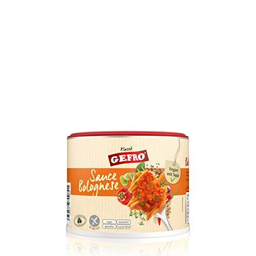 GEFRO Klassik Sauce Bolognese zu Nudeln, Lasagne oder Pizza, vegan mit Soja (240g)