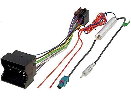 Kit Fiche ISO autoradio compatible avec Opel ap05 et Adaptateur Antenne